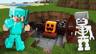 Майнкрафт выживание Стива! Поиск ресурсов и битвы с мобами Minecraft! - Сборник видео обзоров игры