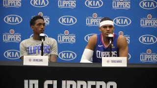 Tobias Harris and Lou Williams Press Conference | 2018 LA Clippers Media Day