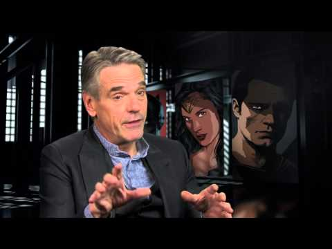 "Batman v Superman: Dawn of Justice: Jeremy Irons ""Alfred"" Behind the Scenes Movie Interview"