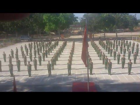 Đồng diễn võ thể dục BĐBP chiến sĩ mới đợt 2 2015 Tiểu Đoàn HL-CĐ