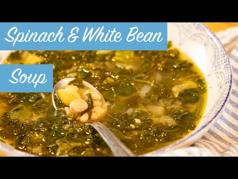 Spinach & White Bean Soup: 30-minute Vegan Meal!!