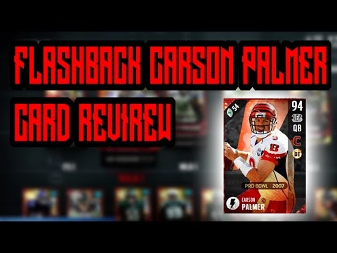NEW CARSON PALMER FLASHBACK CARD REVIEW!!! | MADDEN 17 ULTIMATE TEAM CARD REVIEW