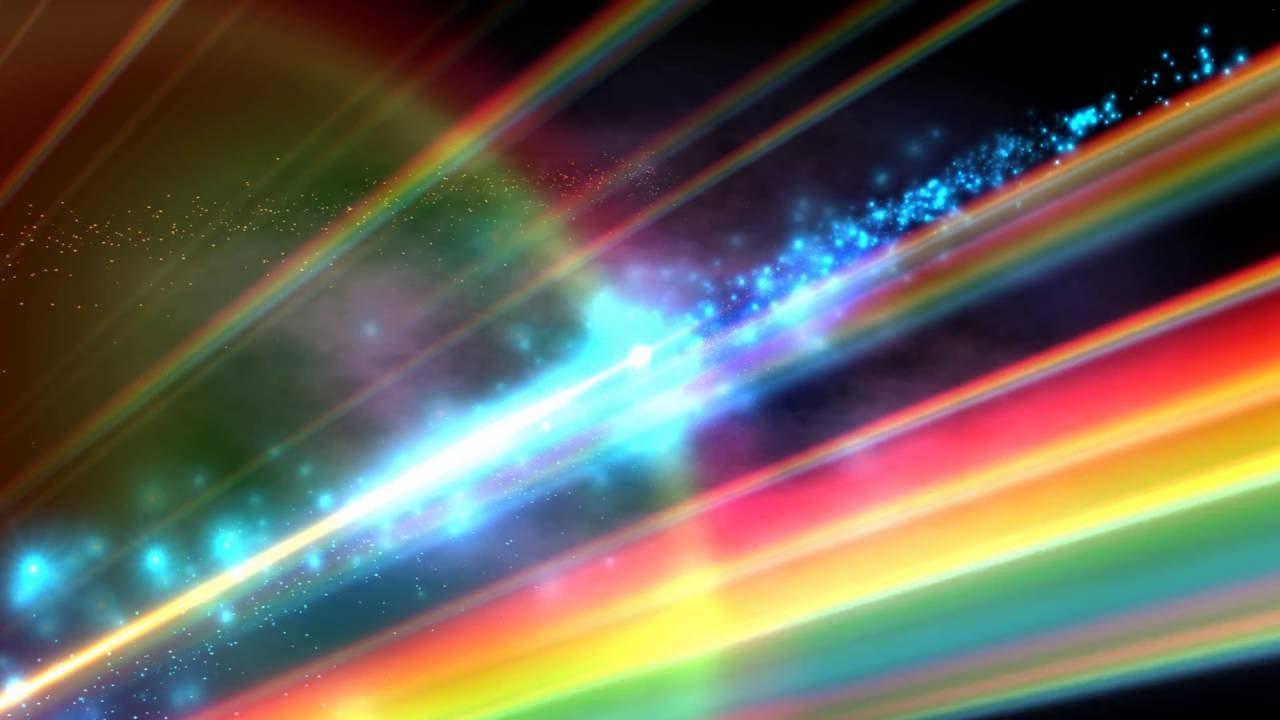 4k Rainbow Rays Halo Space 2160p Motion Background Youtube