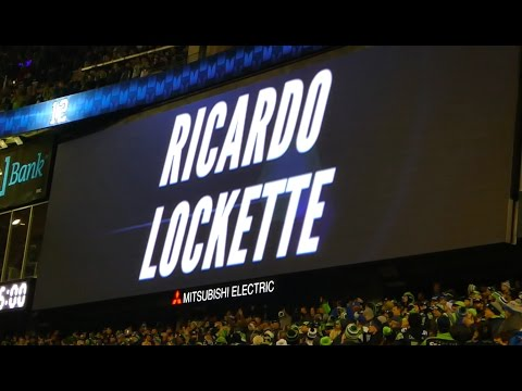 Seattle Seahawk #83 Ricardo Lockette Raises the 12th Man Flag. SNF vs the Panthers.