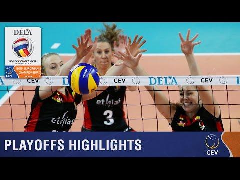 2015 Women's EuroVolley - Highlights Playoff round Belgium vs Czech Republic