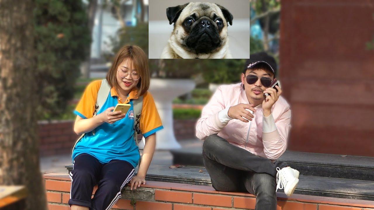 Tán Gái bằng tiếng Cún - Hài Tết Đặc Sắc 2021 | Pickup Girl using Dog Language