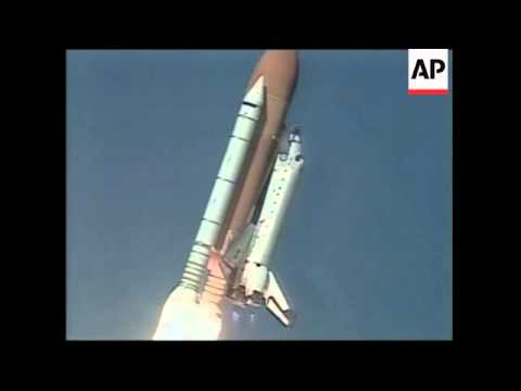 Columbia space shuttle launch with Israel's first astronaut