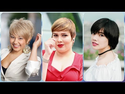 New ideas for short hairstyles for ladies with round faces summer