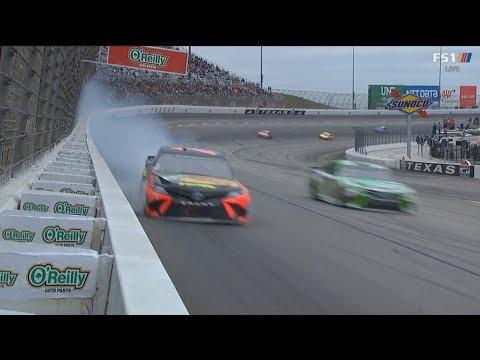 Monster Energy NASCAR Cup Series 2018. Texas Motor Speedway. Martin Truex Jr. Hard Crash