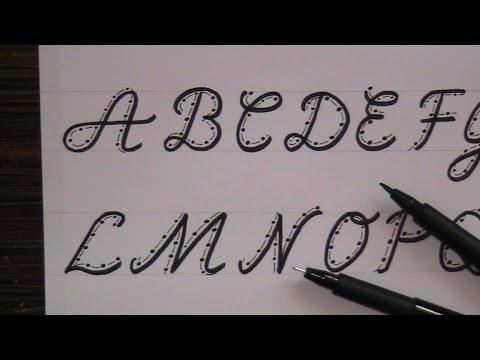cursive fancy letters - how to write cursive fancy letters for