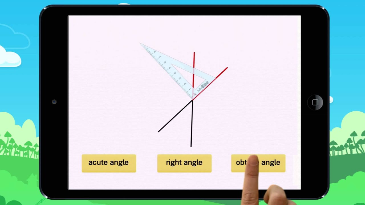Using a triangle to find right, acute & obtuse angles  Example 1