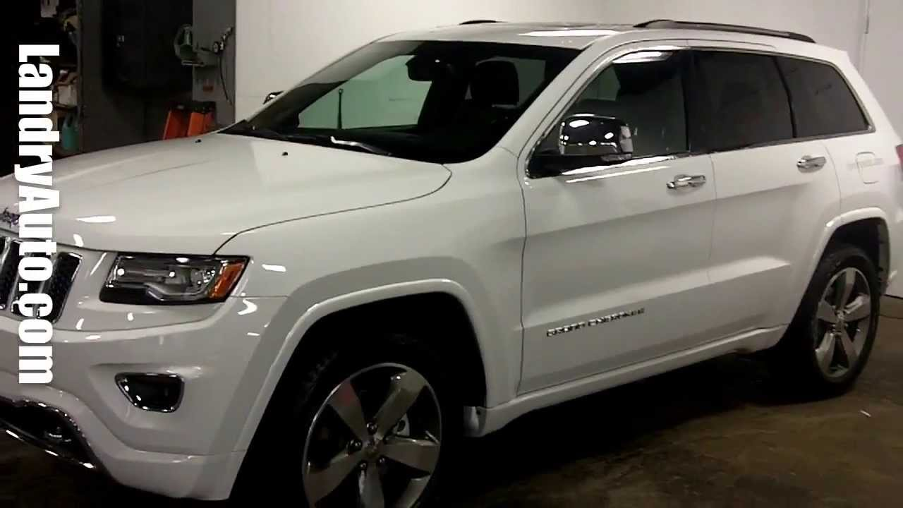 Jeep Grand Cherokee Overland White Blanc 2014 Laval