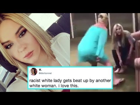 Woman Becomes Internet Hero for Beat Down on Racist Lady - CAUGHT ON CAMERA | What's Trending Now!