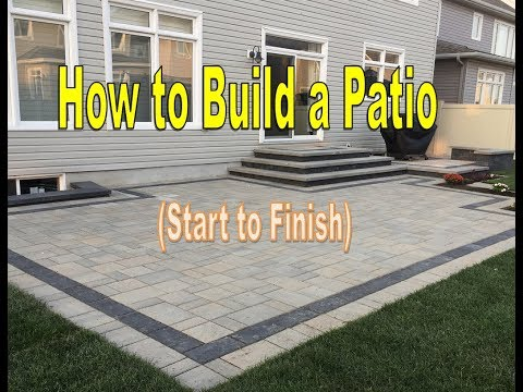 How To Build A Patio - Techo-Bloc Pavers (Time Lapse)