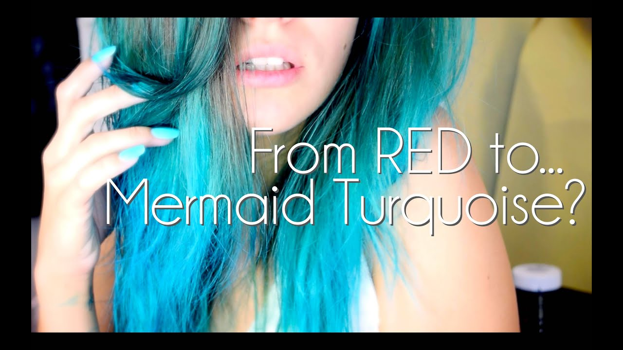 red mermaid turquoise