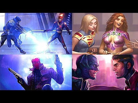 Injustice 2 - All ENDINGS (All DLC Characters Included)
