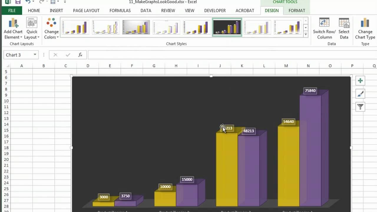 How to Make Excel Graphs Look Good : Microsoft Excel Help - YouTube