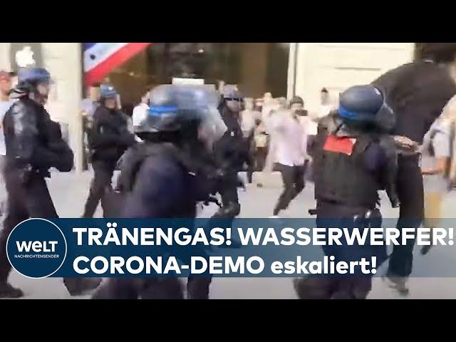 CORONA-AUSSCHREITUNGEN: Eskalation! Polizei setzt Tränengas gegen Demonstranten in Paris ein