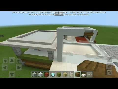 #4. Let's Build :- Modern house| Minecraft PE Gameplay |