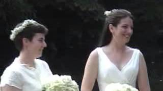 Same sex wedding officiated by Trish Roberts
