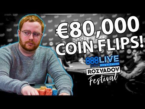 HUGE FLIPS FOR €80,000 in €888 King's Casino Main Event! | 888poker