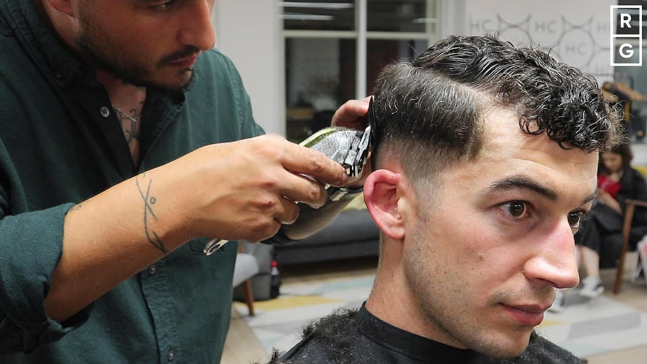 Great Short Fade Hairstyle For Men With Curly Hair Youtube