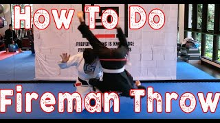 60 seconds guide to BJJ Judo Sambo Wrestling Fireman throw a.k.a Kata Guruma