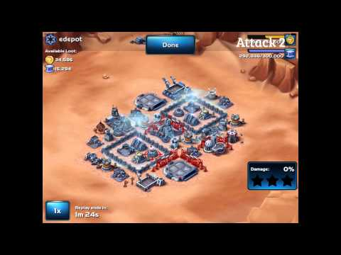 Star Wars: Commander - Strongest Lvl 5 HQ Base Design (v2) Attacked