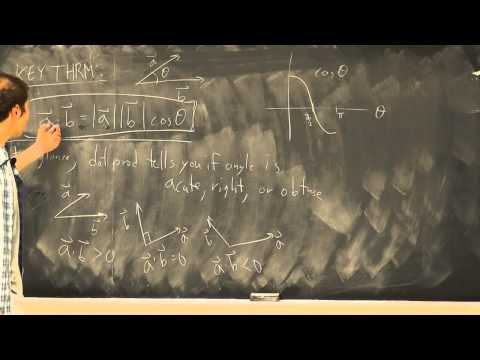 Multivariable Calculus: Lecture 2 - Dot Product
