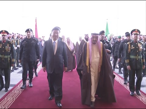 Chinese President Attends Welcome Ceremony Held by Saudi Arabian King