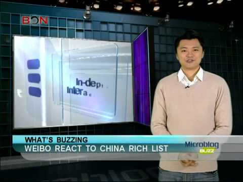 Weibo react to China rich list   Microblog Buzz   February 15,2013   BONTV China