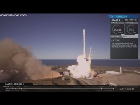 SPACEX Returns To Space: Webcast 01/14/2017: SpaceX Falcon-9 Iridium 1 Launch