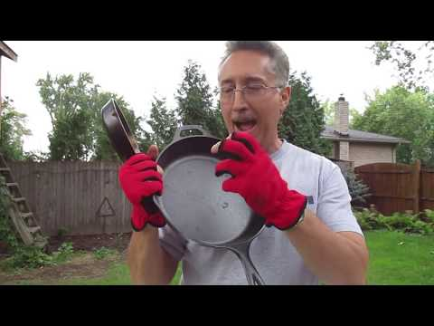 Lodge skillet Fastest & best way to smooth cast iron skillet