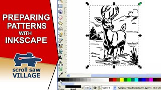 Preparing A Scroll Saw Pattern For Printing With Inkscape