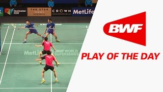 play of the day   badminton sf the star australia open 2015