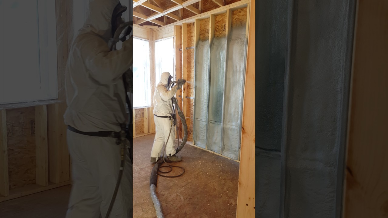 Spray foam insulation 2lb Closed Cell in Calgary,Alberta. Best way to insulate  your home.