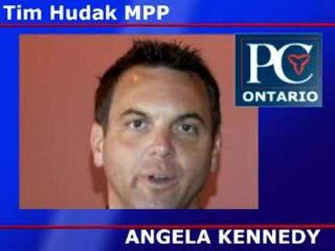Tim Hudak Endorsed Angela Kennedy for Ontario MPP