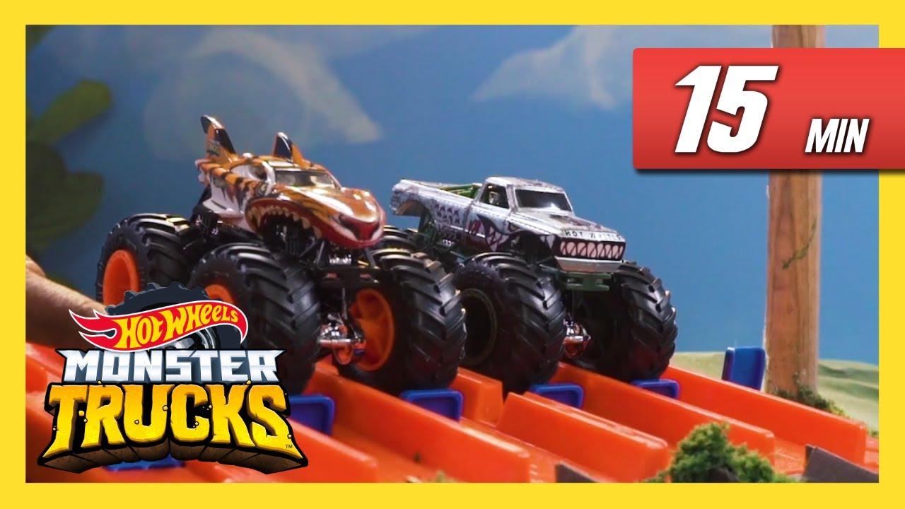 Monster Truck Mania Monster Trucks Hot Wheels Youtube