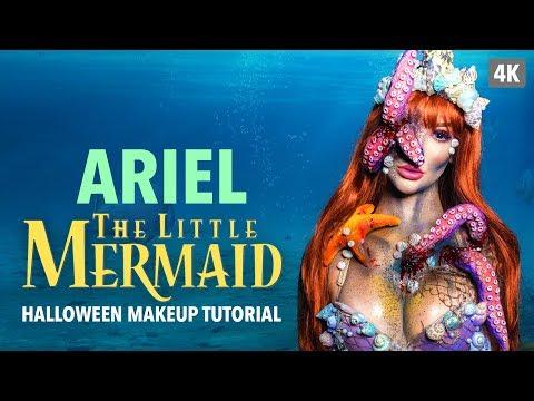 Ariel The Little Mermaid Halloween Makeup Tutorial