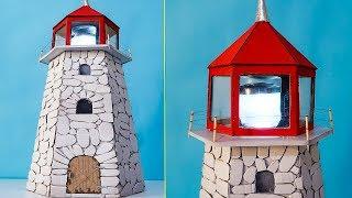 How To Make Lighthouse Of Cardboard - Kartondan Deniz Feneri Nasıl Yapılır