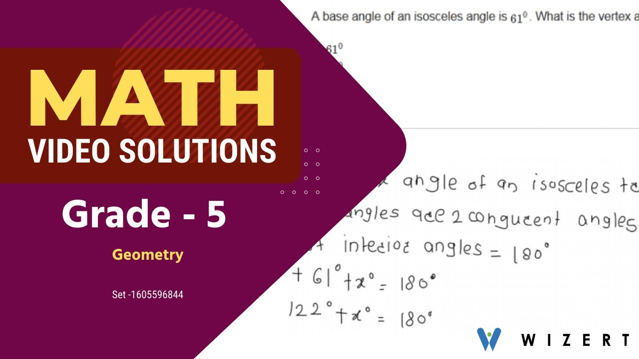 small resolution of Grade 5 Math Tests - Maths Geometry worksheets for Grade 5 - Set 1605596844  - YouTube