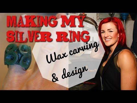 Wax carving jewellery & design - How I made my own silver ring - Part 1 of 3