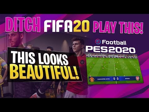 [TTB] DITCH FIFA 20 & PLAY THIS! - PES 2020 BEAUTIFUL GAMEPLAY! Man United Vs Arsenal
