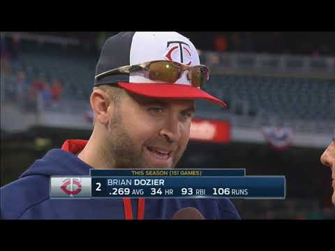 Dozier on the Twins