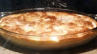 Шарлотка на закваске. Яблочный заливной пирог без муки, только на закваске
