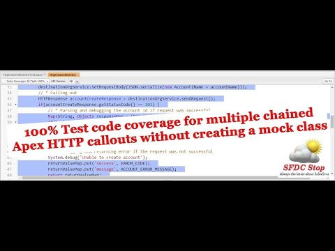 100% Test code coverage for multiple dependent apex HTTP callouts without creating a mock class