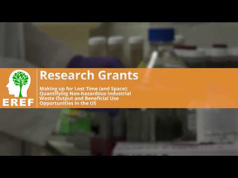 EREF Grant Spotlight: Yale Research on Non-Hazardous Industrial Waste