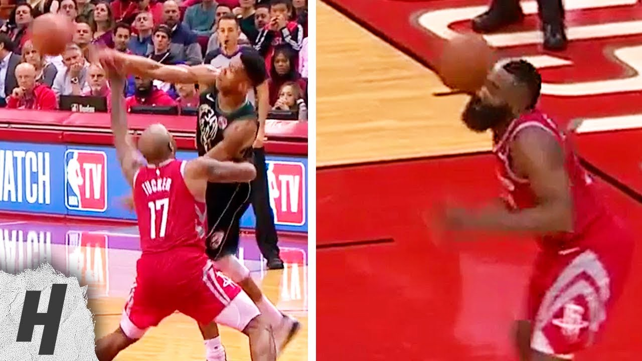 Video: Did Giannis Antetokounmpo intentionally hit James Harden ...