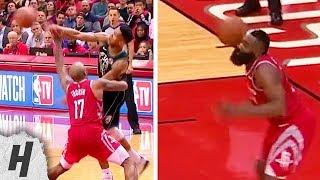 Giannis Antetokounmpo HITS James Harden In The Head with Ball | Bucks vs Rockets - January 9, 2019