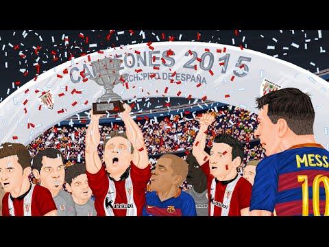 Parodia animada de la Supercopa de España 2015 entre Barcelona y Athletic